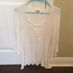 Urban white bell sleeved shirt